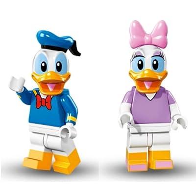 Lego Disney Minifigures - Donald Duck & Daisy Duck 2 Pack (71012): Toys & Games