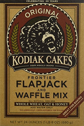 Kodiak Cakes Whole Wheat Honey Oat Flapjack/waffle Mix 24 Oz One Box (Grain Pancake Whole Mix)