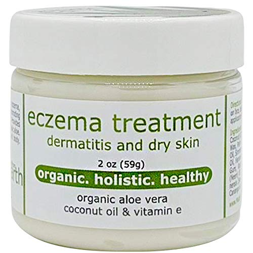 Amazon Com Eczema Cream For Dermatitis Dry Skin With Organic Aloe Vitamin E 2oz Beauty