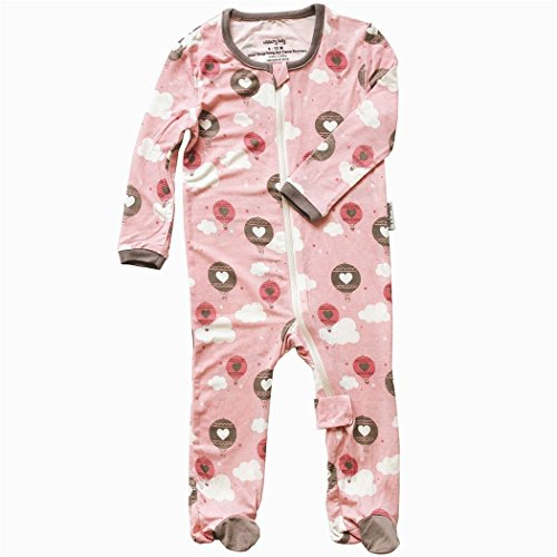 Silkberry Baby Bamboo Footie Sleeper Pink Cloud 3-6m
