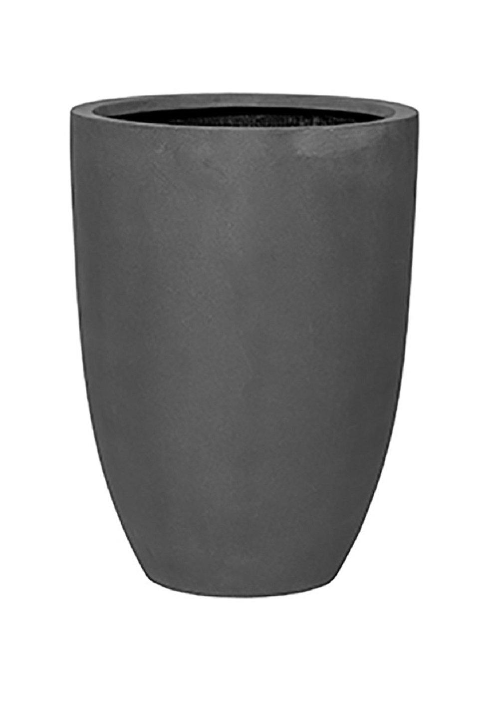 Pottery Pots Ben Tall Grey Flower Planter Tapered Cylinder Fiberstone Vase 22'' H x 16'' W