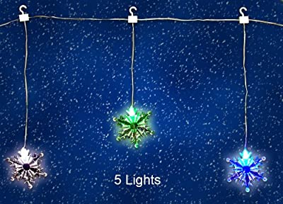 LED Acrylic Snowflake Garland String Christmas Decoration LED Color Changing Lighted Strand