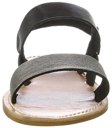 Inuovo 7218 - Tira de tobillo Mujer Schwarz (PEWTER-BLACK)