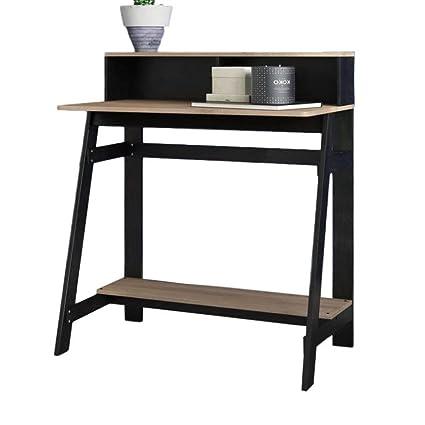 amazon com mid century modern desk hutch office laptop table rh amazon com modern office desk with hutch modern executive desk with hutch