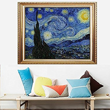 Faraway DIY Full Round Diamond Painting Van Gogh The Starry Night 5D Rhinestone Embroidery for Wall Decor 16X20inch  -