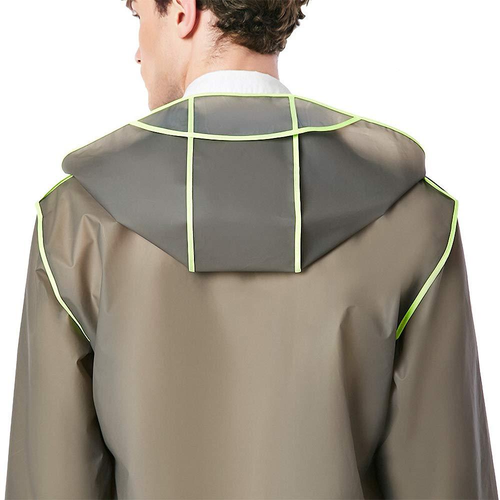 Drizzle Vestes de Pluie Impermeable Femmes Hommesn Poncho à Capuchon Extérieur (4 Couleurs M-XXL) Gris