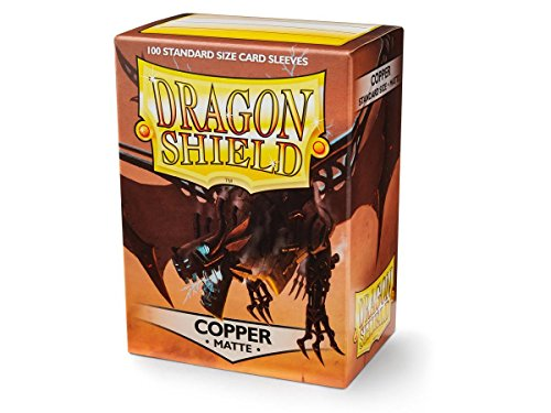 Dragon Shield Matte Copper 100 Deck Protective Sleeves - 100 Dragon Shield Sleeves