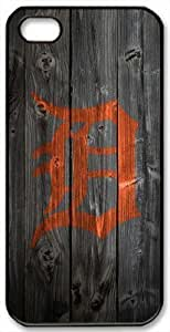 Detroit Tigers Logo iPhone 4/4S Case DIY Wood Look iPhone 4/4S Cover Case