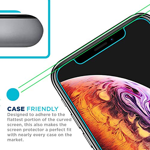 Tech Armor Apple iPhone X/Xs HD Clear Film Screen Protector [3-Pack] Case-Friendly, Scratch Resistant, 3D Touch Accurate Designed for New 2018 Apple iPhone Xs