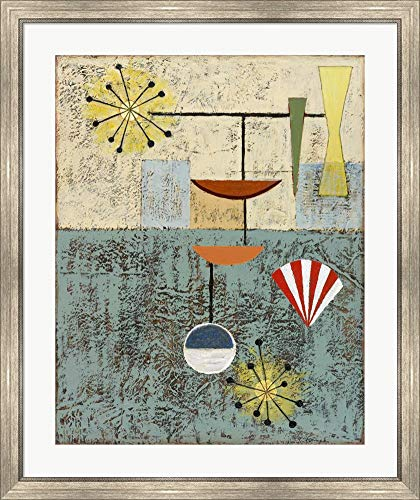 Sterling Cooper 6 by Rachel Paxton Framed Art Print Wall Picture, Silver Scoop Frame, 32 x 38 inches