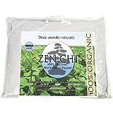 "Buckwheat Pillow - Zen Chi Organic Buckwheat Pillow - Japanese Size (14"" X 20"") - 100% Cotton Cover with Organic Buckwheat Hulls"