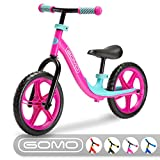 GOMO Balance Bike – Toddler Training Bike for 18 Months, 2, 3, 4 and 5 Year Old Kids – Ultra Cool Colors Push Bikes for Toddlers/No Pedal Scooter Bicycle with Footrest