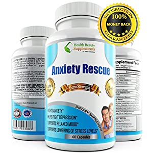 51PCSnYpoCL. SS300  - * ALL NATURAL * ANXIETY RESCUE - Depression And Anxiety Supplements - Anxiety Natural Supplements - Anxiety Relief - Anxiety Free - Anxiety Pills - Essential Oils - Anxiety Supplement