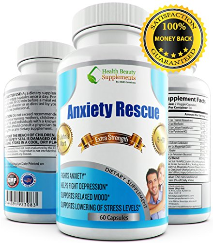 51PCSnYpoCL - * ALL NATURAL * ANXIETY RESCUE - Depression And Anxiety Supplements - Anxiety Natural Supplements - Anxiety Relief - Anxiety Free - Anxiety Pills - Essential Oils - Anxiety Supplement