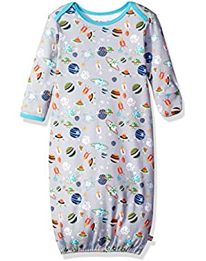 Unisex Baby Printed Cotton Gown