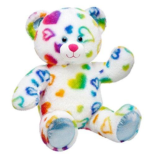 (Build-a-Bear Workshop 17 in. Rainbow Hearts Teddy Bear)