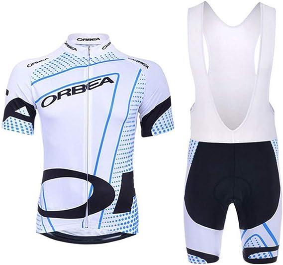 TIDH Verano Equipacion Conjunto de Ropa Ciclismo para Hombre, Maillot Ciclismo Mangas Cortas y Culotte Pantalones Cortos Bicicleta con 5D Gel Pad: Amazon.es: Deportes y aire libre