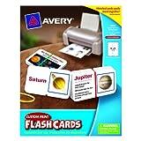Avery AVE04752 Flash Cards Custom Print