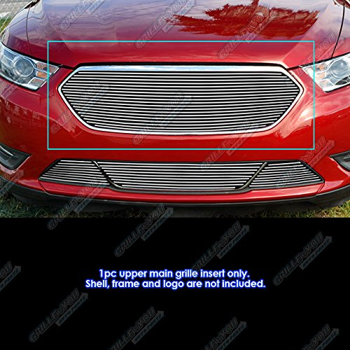 APS Fits 2013-2019 Ford Taurus SHO Logo Cover Billet Grille Insert #F65937A ()