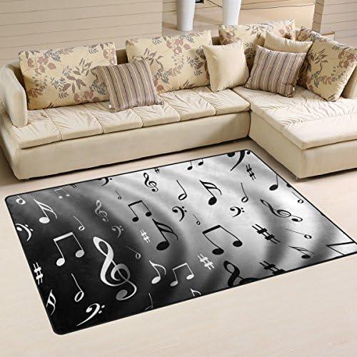 Yochoice Non-slip Area Rugs Home Decor, Vintage Retro Music Note Floor Mat Living Room Bedroom Carpets Doormats 60 x 39 inches