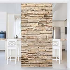 Panel japones asian stonewall large brigth stone wall of - Paneles japoneses amazon ...