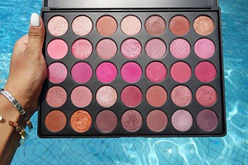 Valentine Palette in Scarlett   100% VEGAN & CRUELTY FREE Eyeshadow Palette   35 Beautiful Versatile Makeup   Warm Makeup Palette   Metallic Eyeshadow   Matte Shades Perfect for Gift Ideas