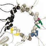 Wholesale Kids Bulk Earbuds Headphones Earphones, 6 Assorted Colors,For Schools, Libraries, Hospitals (50pack)