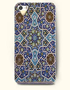 SevenArc Apple iPhone 5 5S Case Moroccan Pattern ( Turquoise Blue and Brown Mosaic Pattern )