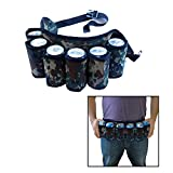 Toy Cubby Camouflage Adjustable Soda and Beer Holster Belt, Holds 6 Beverages