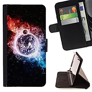 Momo Phone Case / Flip Funda de Cuero Case Cover - Espacio Galaxy;;;;;;;; - Samsung Galaxy Core Prime