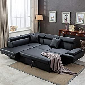 Amazing Fdw Sofa Sectional Futon Sofa Bed Living Room Sofas Couches And Sofas Corner Sofa Set Sleeper Sofa Faux Leather Queen 2 Piece Modern Contemporary Home Interior And Landscaping Staixmapetitesourisinfo