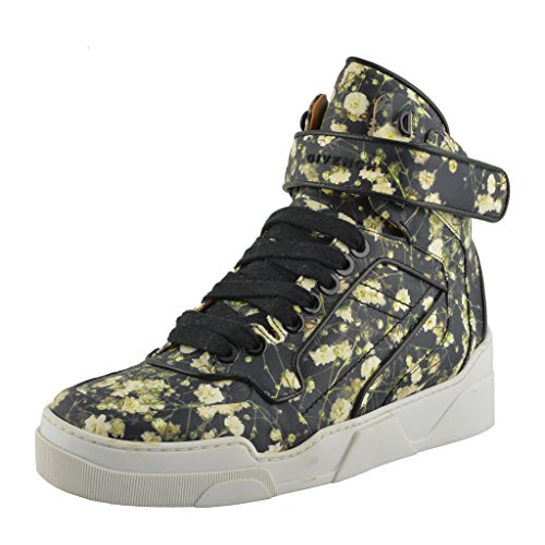 Givenchy Mens Floral Print Leather Hi Top Fashion Sneakers Shoes Multi-color gpJR4QAs