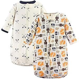Hudson Baby Safe Sleep Wearable Long Sleeve Sleeping Bag, 2 Pack, Forest