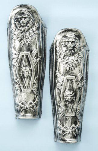 Forum Roman Lion Costume Leg Armor, Silver, One (Roman Soldier Armor Costumes)