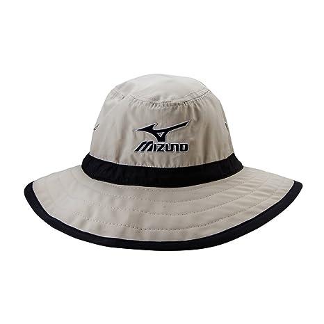 335fa470 Amazon.com : Mizuno Large Brim Sun Hat Chalk/Black, Large/X-Large : Sports  & Outdoors