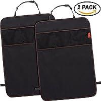 Car Kick Mats Seat Back Protectors with Odor Free, Premium Waterproof Fabric,...