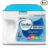Similac Advance Non GMO Infant Formula, Powder, 23.2 Ounces, 1.45 LB Ounces (Pack of 6)