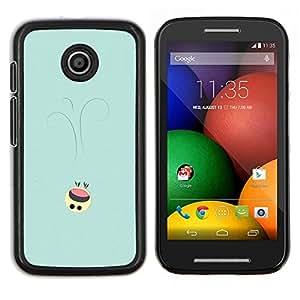 Qstar Arte & diseño plástico duro Fundas Cover Cubre Hard Case Cover para Motorola Moto E (Lindo Smiley)