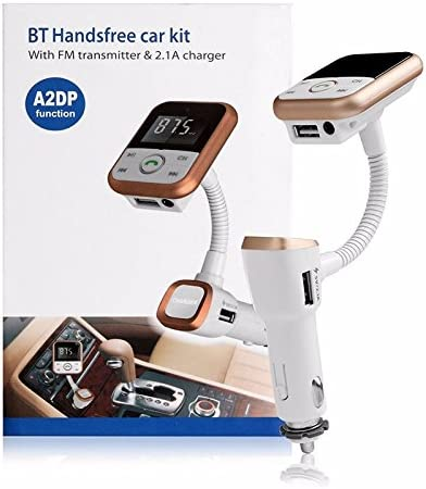 black Bluetooth FM Transmitter Wireless In-Car Radio Adapter Hands-free Call Car Kit MP3 Player 3.4A Dual USB Car Charger with Display for iPhone iPad iPod Samsung Xiaomi Huawei FM Transmitter BT67 Geelyda