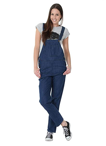 1fd78644ab G8 One Ladies  Denim Dungarees Mid-Stonewash Value Bib Overalls  LADIESVALUEMIDSW-12