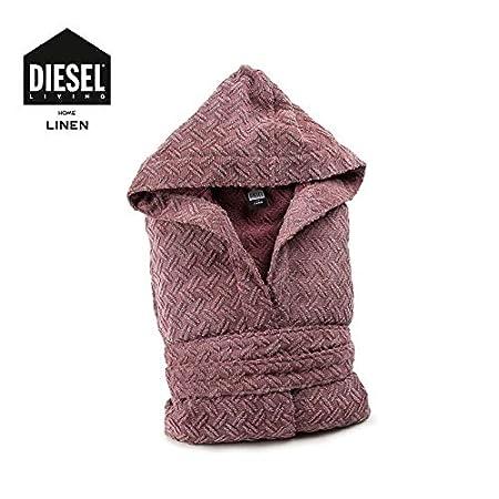 Diesel Accappatoio con Cappuccio Articolo Stage Burgundy 003, S//M