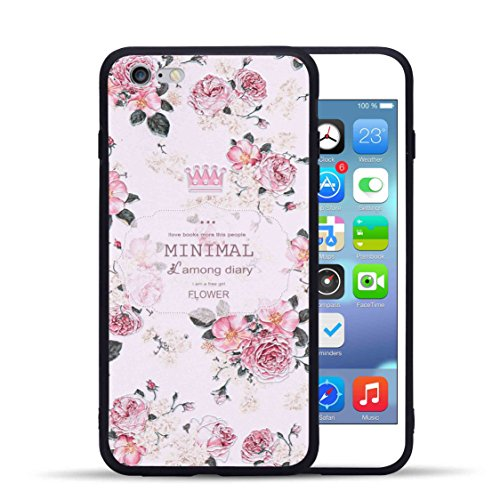 Iphone 6 Plus 6S Plus Case  Hoyoo Tpu Soft Snug Cover With 3D Relief Patterns For Apple Iphone 6 Plus And 6S Plus 5 5  Ultra Slim Stylish  Qw
