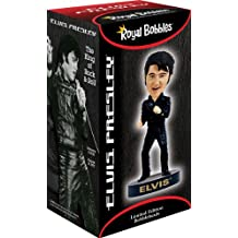 Royal Bobbles Elvis Presley in 1968 Comeback Black Leather Outfit Bobblehead Toy
