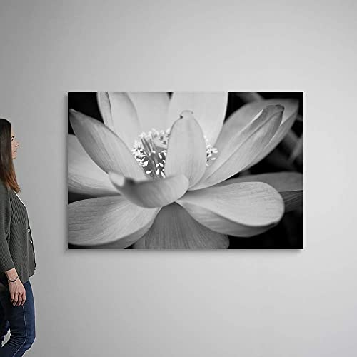 Black and White Flower II Canvas Wall Art Print