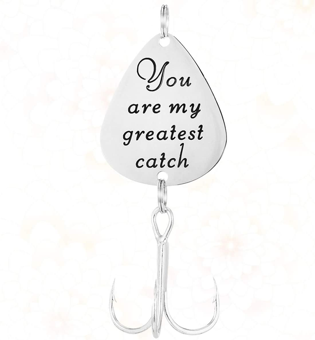 You Are My Greatest Catch Pattern LIOOBO Fishing Lure Engraved Fishing Hooks Wedding Fisherman Gift