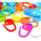 100PC Mix Color Knitting Stitch Counter Crochet Locking Stitch Markers Stitch Needle Clip Knitting Crochet Markers (100)