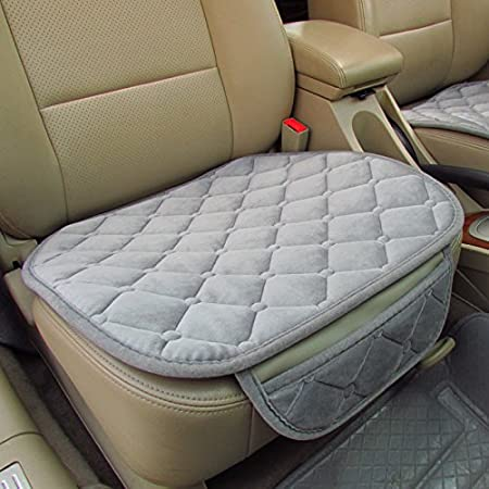 Leaftree Quality Soft Cotton Seat Covers Universal Car Seat Cushion Seat Purple Grey Purple Interior Car Interior Accessories Front