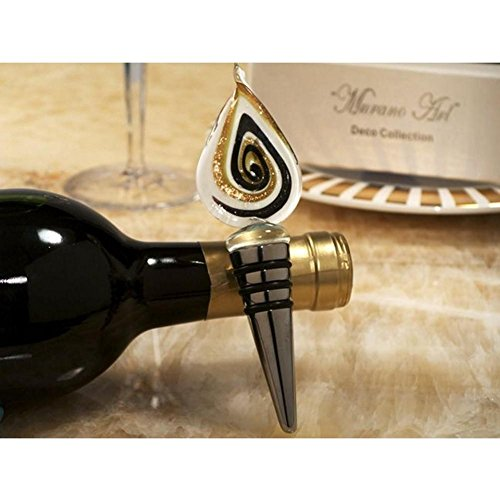Murano Art Deco Collection Tear Drop Design Wine Stopper - 36 Pieces by Cassiani