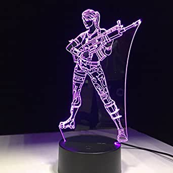 Fortnite Souvenir 3D Lamp Chug Jug Changeable Mood Lamp 7 Color Light Base Cool Night Light for Birthday Holiday Gift (fortnite lamp 5)