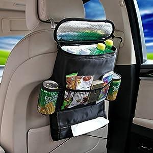 gorbanshop bébé enfants voiture Aidapt Medical Supplies Siège arrière de rangement à suspendre Cool Boisson Sac à nourriture toysorganiser de voyage Noir